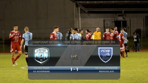 Foot - Le Puy vs Villefranche 20/12/2019