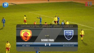 Foot – Lyon la Duchère vs FCVB  14/12/2018
