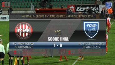 Foot – MONTCEAU vs FCVB 18ème Journée