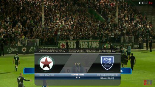 Foot - Red Star vs FCVB 17/09/2021