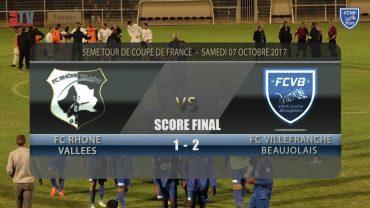 Foot – Rhône-Vallées / FCVB – Coupe de France