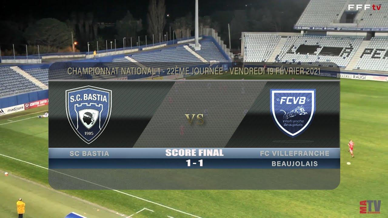 Foot - SC Bastia vs FCVB 19/02/2021
