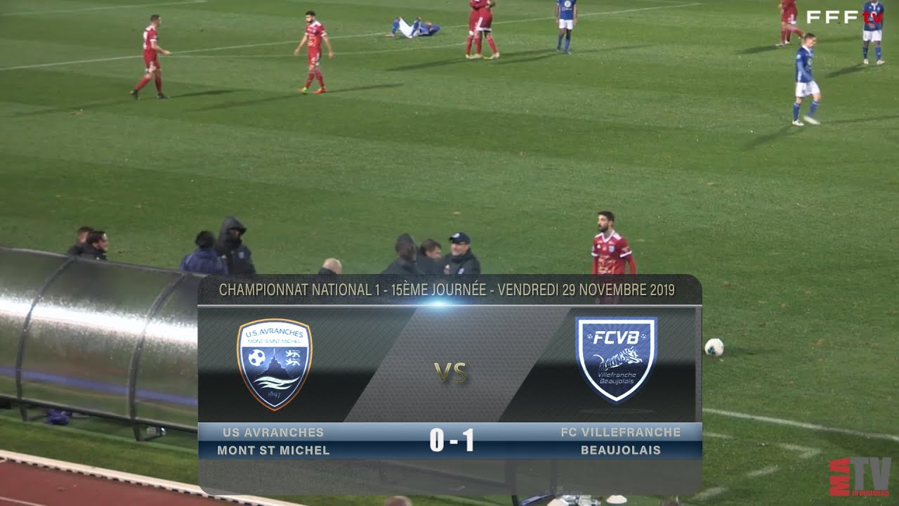 Foot - US Avranches vs Villefranche 29/11/2019