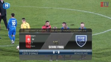 Foot – US Boulogne vs FCVB  02/11/2018