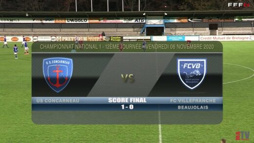 Foot - US Concarneau vs FCVB 06/11/2020