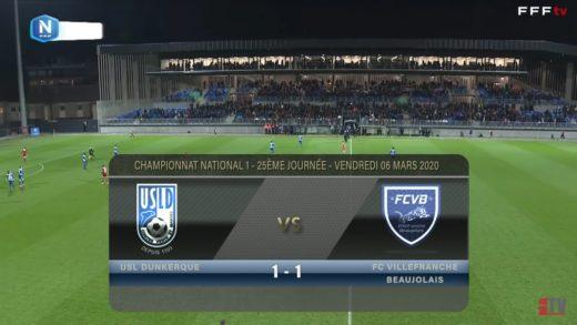 Foot - USL Dunkerque vs Villefranche