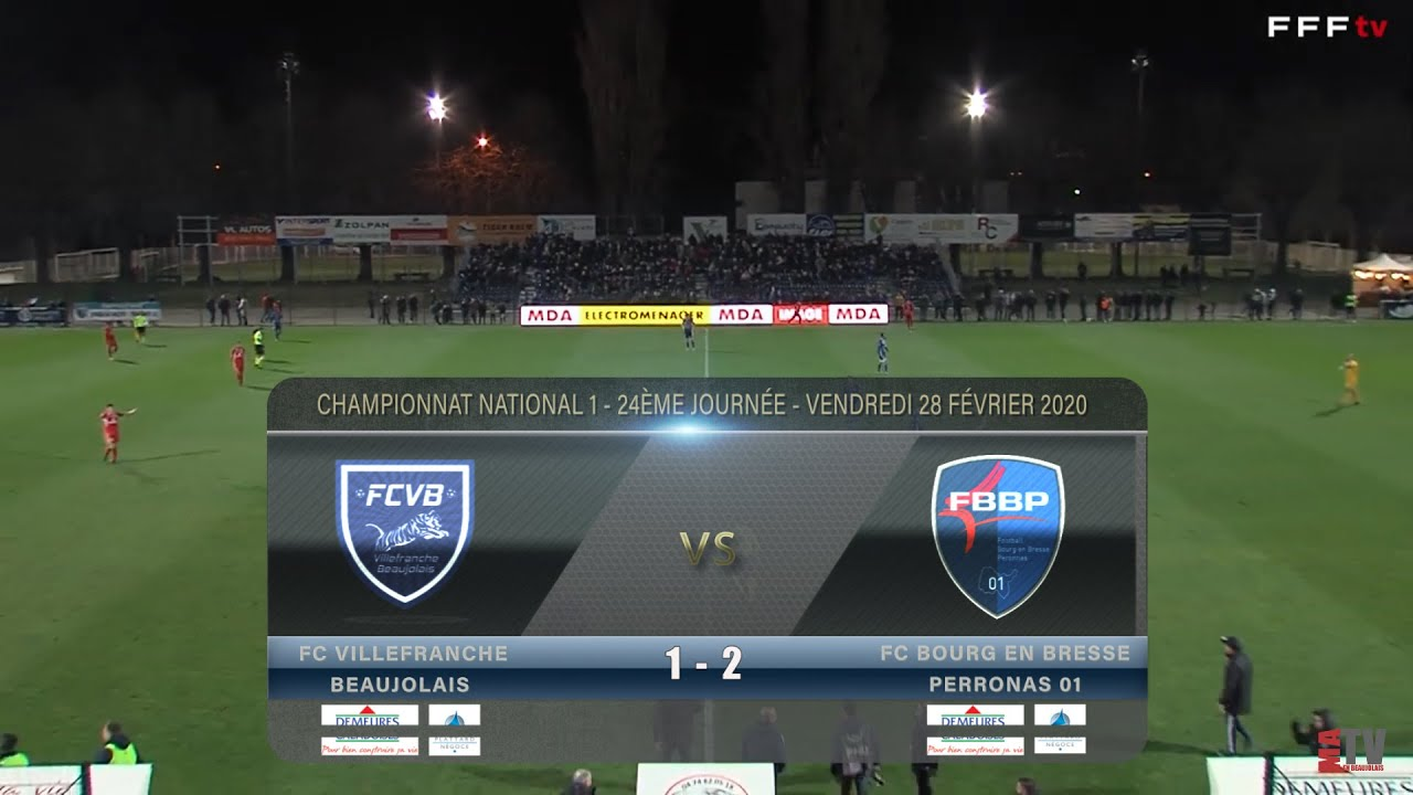 Foot - Villefranche vs Bourg-en-Bresse 28/02/2020