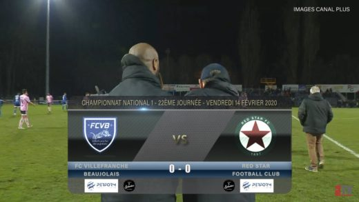 Foot - Villefranche vs Red Star FC 14/02/2020