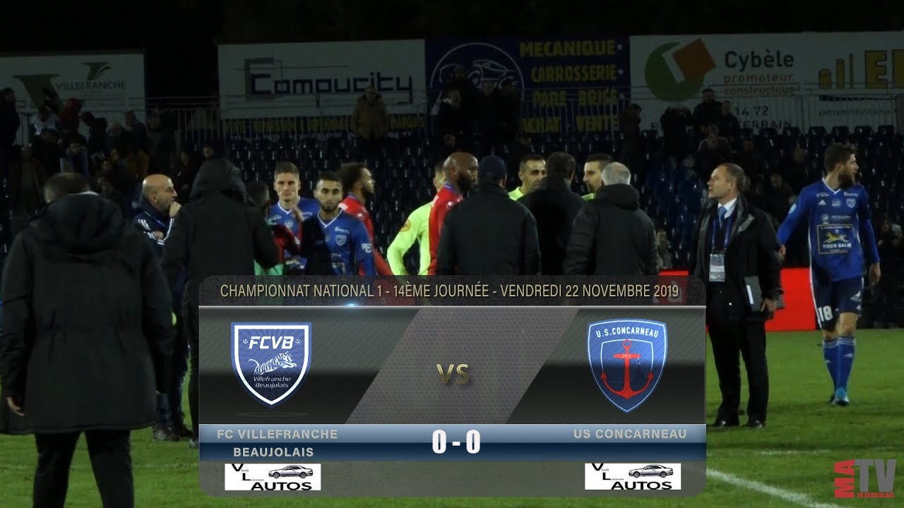 Foot - Villefranche vs US Concarneau 22/11/2019