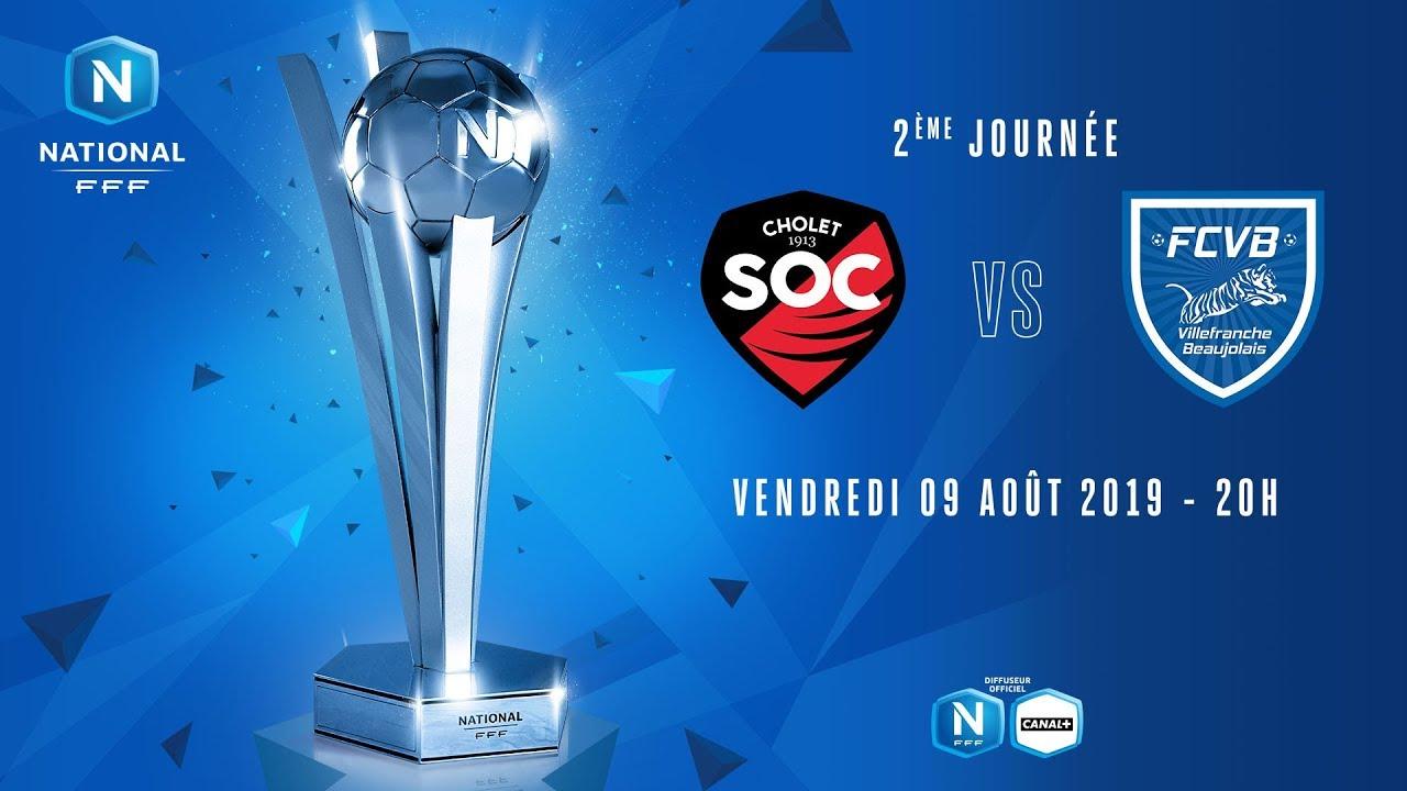 Football en Direct Live - Championnat National - SO Cholet VS Football Club Villefranche Beaujolais