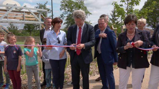 Gleizé - Inauguration de l'aire d'accueil et de loisirs de Chervinges