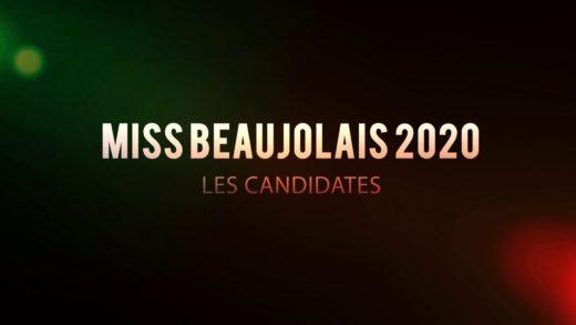 Les candidates à Miss Beaujolais 2020