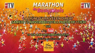 Marathon du Beaujolais 2018 – Ligne d'arrivée en Direct Live
