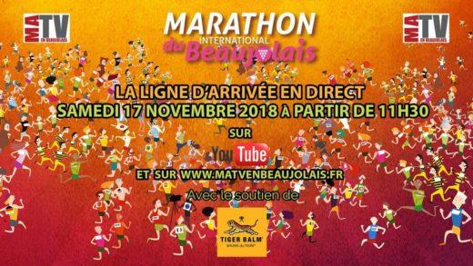 Marathon du Beaujolais 2018 - Ligne d'arrivée en Direct Live