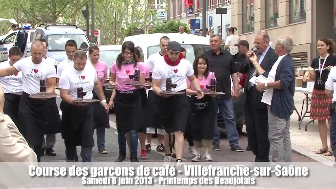 Course des garçons de cafés à Villefranche-sur-Saône le 8 juin 2013
