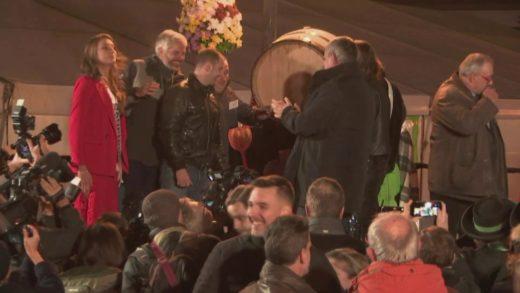 Mise en perce du Beaujolais Nouveau 2019 à Beaujeu