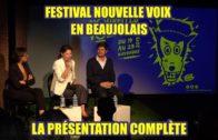 Présentation de Nouvelles Voix en Beaujolais 2019