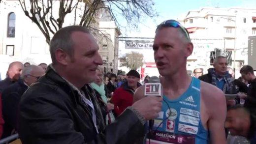 Arrivée du Marathon International du Beaujolais 2014
