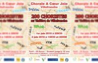 Chorale à Cœur Joie – Présentation du Spectacle 2018