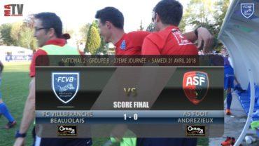 Foot – FCVB vs Andrézieux 27ème journée