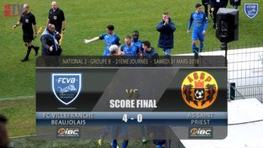 Foot – FCVB vs AS St Priest 21ème journée