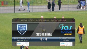 Foot – FCVB vs Epinal 25ème journée