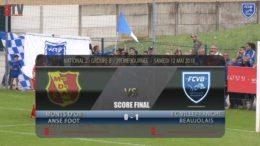 Foot – MDA Chasselay vs FCVB  29ème journée