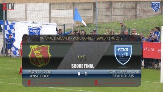 Foot - MDA Chasselay vs FCVB  29ème journée