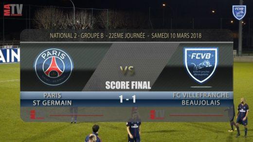 Foot – PSG vs FCVB 22ème journée